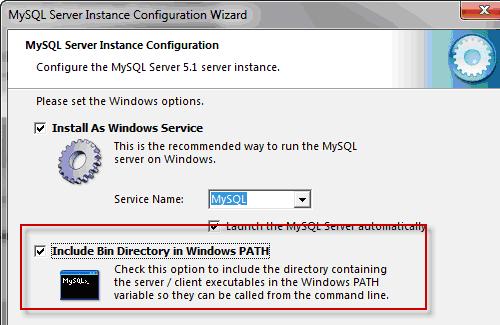 Installazione di MySQL come servizio e della varibile d'ambiente PATH