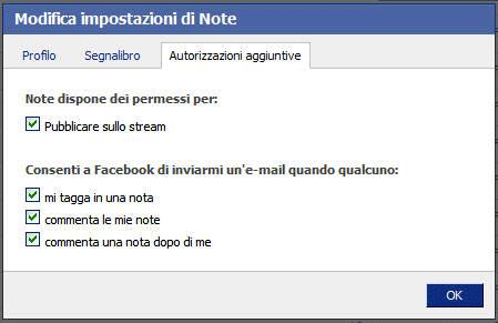 L'applicazione Note