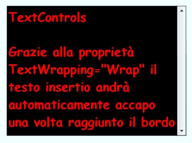 Esempio di utilizzo di TextBox