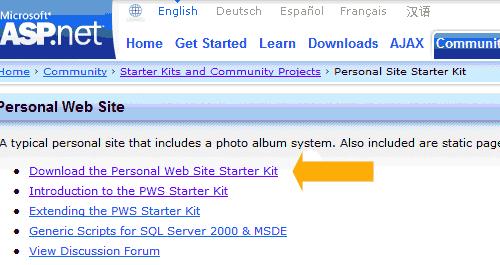 Scaricare lo Starter Kit