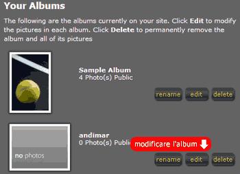 Modificare l'album