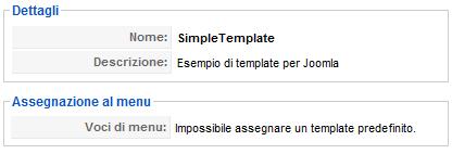 simple template