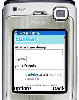 La pagina mobile di Twitter