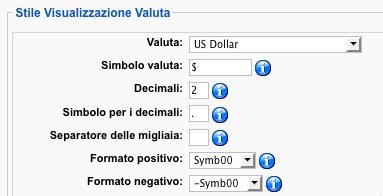 Definiamo la valuta locale