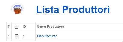 Lista Produttori