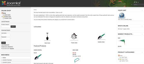 L'home page del nostro sito con VirtueMart