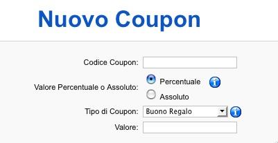 Lista coupon