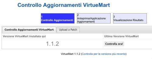 L'ultima versione di VirtueMart disponibile