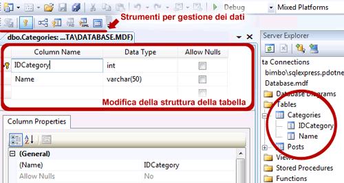 Tool di gestione del database