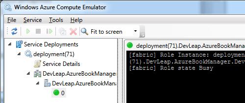 L'applicazione in funzione su un'istanza di Azure