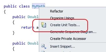 Creare uno unit test per una specifica classe