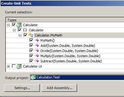Scegliere i metodi da testare ed il progetto in cui includerli
