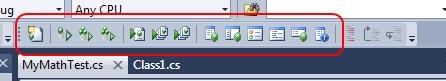 La toolbar di test