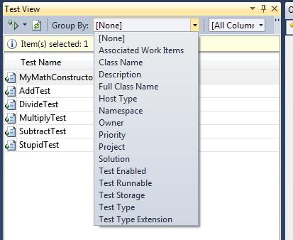 Raggruppare i test per caratteristiche