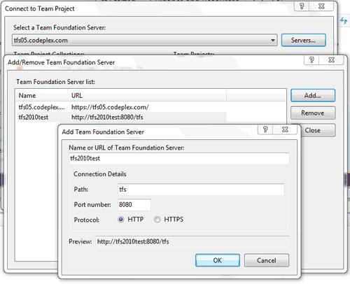 Connettersi ad un Team Foundation Server