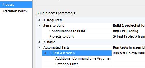 Definizione del processo della build