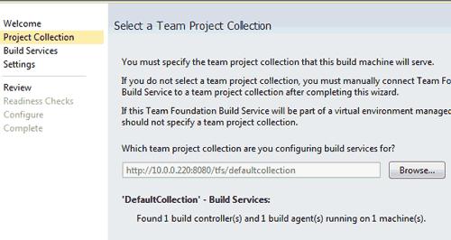 Configurazione di Build Agent aggiuntivi per una Project Collection