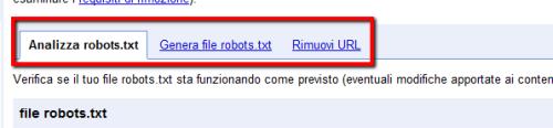 Analizzare robots.tx