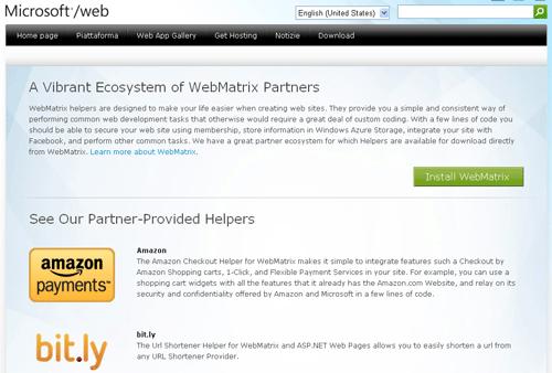 Librerie di helper per WebMatrix