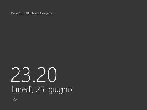 Figura 9: La schermata di login in Windows Server 2012