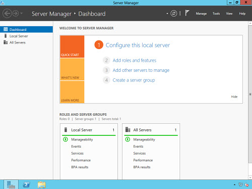 Figura 10: Il nuovo Server Manager di Windows Server 2012