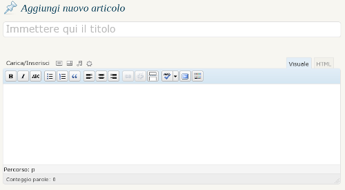 editor di WordPress