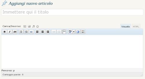 editor di WordPress