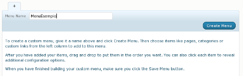 Crea menu