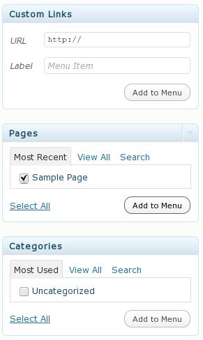 Aggiungiamo pagine e categorie al menu