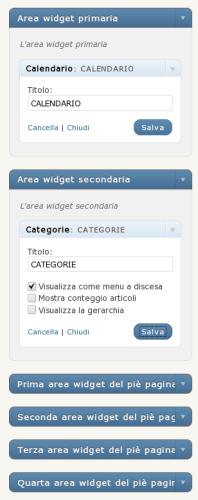 aree widget in sidebar