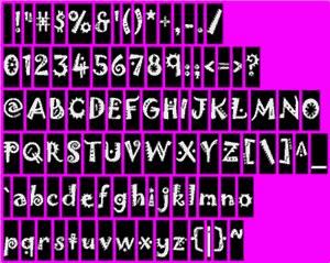 Una sprite font texture