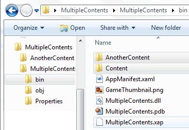 I content stanno nelle rispettive Content Root Directory