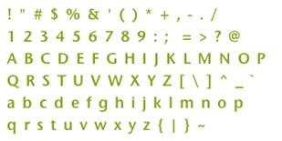 Esempio di Font Sheet